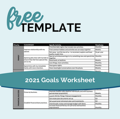 2021 Goals Worksheet