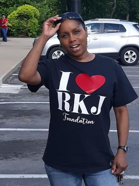 Debra rockin' her RKJ shirt