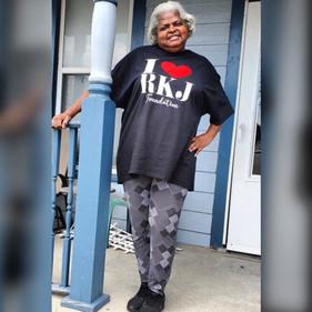 Ms Jackie rockin' her RKJ shirt