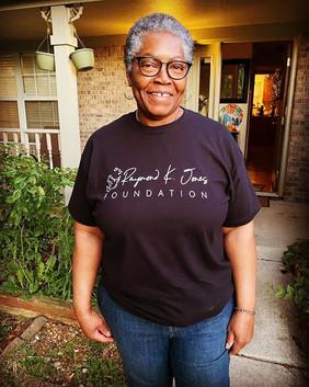 Sylvia rockin' her RKJ shirt