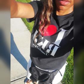 Shavon rockin' her RKJ shirt