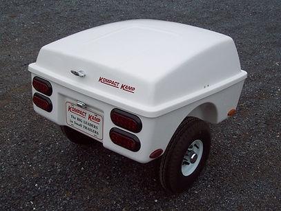 Kompact Kamp R66 white - Pull behind motorcycle cargo trailer