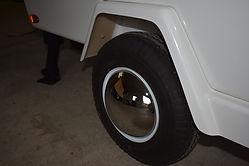 Trailer Wheel Chrome Baby Moon Covers