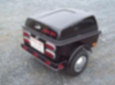 Kompact Kamp clipper - Pull behind motorcycle cargo trailer