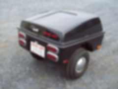Kompact Kamp R66 Black/Chrome - Pull behind motorcycle cargo trailer