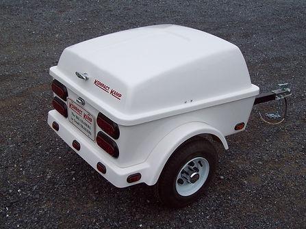 Kompact Kamp Clipper -Pull behind motorcycle cargo trailer