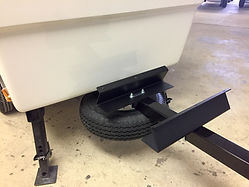 Motorcycle Pull Behind Trailer Cooler Bracket and Spare Tire