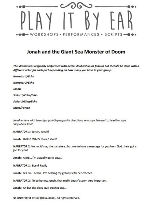Jonah and the Giant Sea Monster of Doom