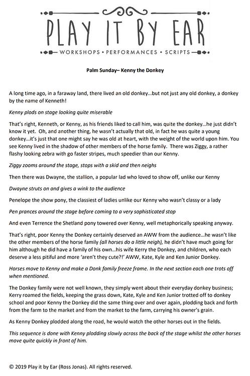 Kenny the Donkey - A Palm Sunday Story
