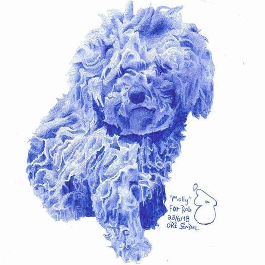 ORI SINDEL Art in blue!