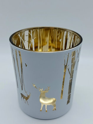 Reindeer in the Forest Large Tealight Holder