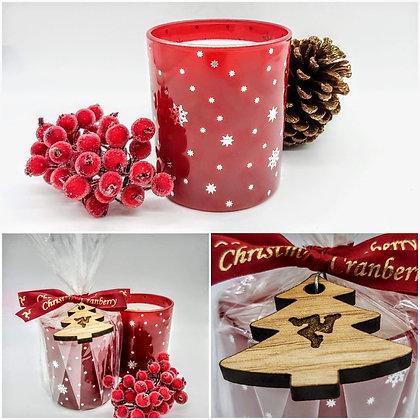 Christmas Cranberry Snowflake Jar