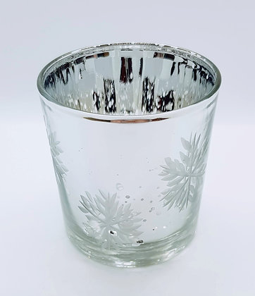 Silver snowflake small tealight holder