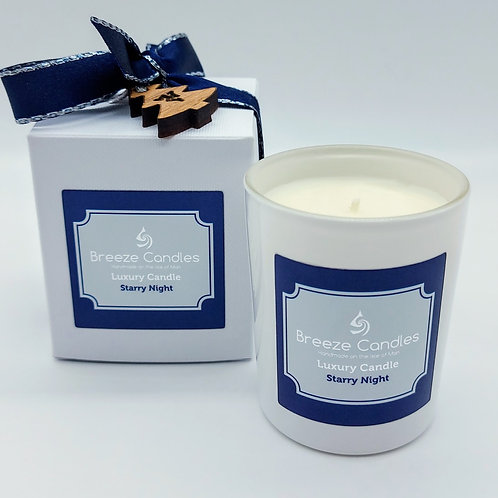 Christmas 30cl Boxed Candle Jar - Starry Night