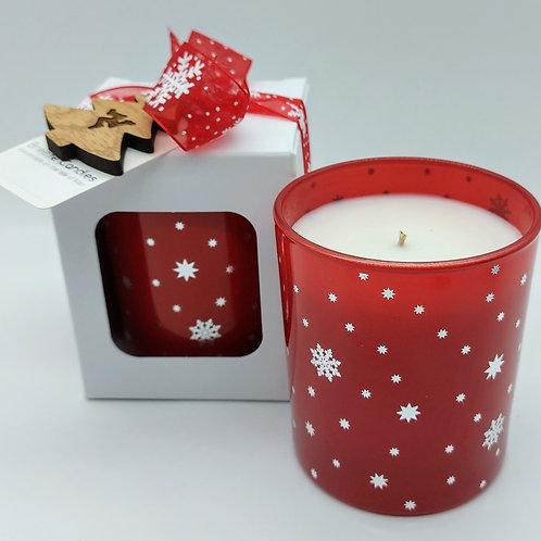 Cranberry Boxed Snowflake Jar