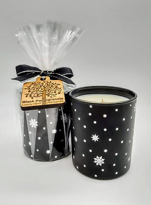 Black Pomegranate Snowflake jar