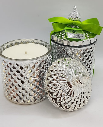 Special Edition Lime Basil & Mandarin Geo Candle Jar