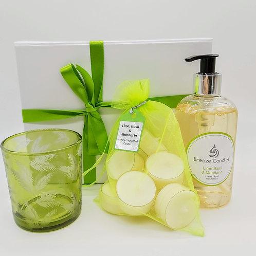 Lime Basil and Mandarin Tealight Gift Set