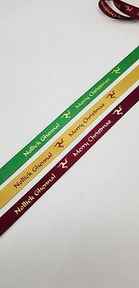 Nollick Ghennal Merry Christmas ribbon- 5 metres