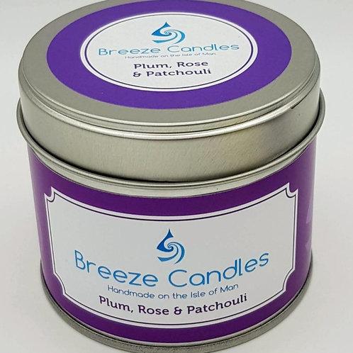 20cl Candle Tin - Plum Rose & Patchouli