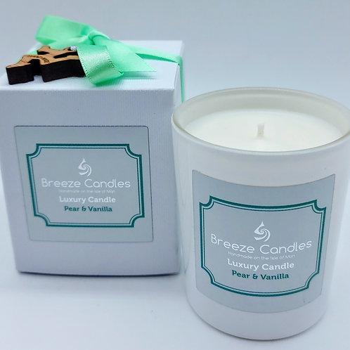 9cl Boxed Candle Jar - Pear & Vanila