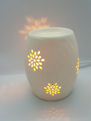 White Ceramic Electric Wax Melter