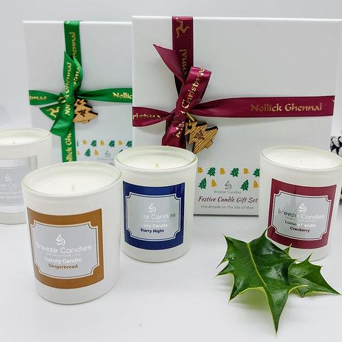 Nollick Ghennal Christmas Candle Set