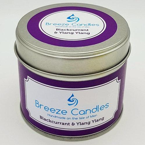 20cl Candle Tin - Blackcurrant & Ylang Ylang