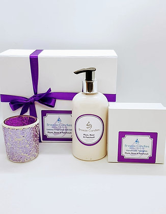 Plum, Rose and Patchouli Tealight Gift Set