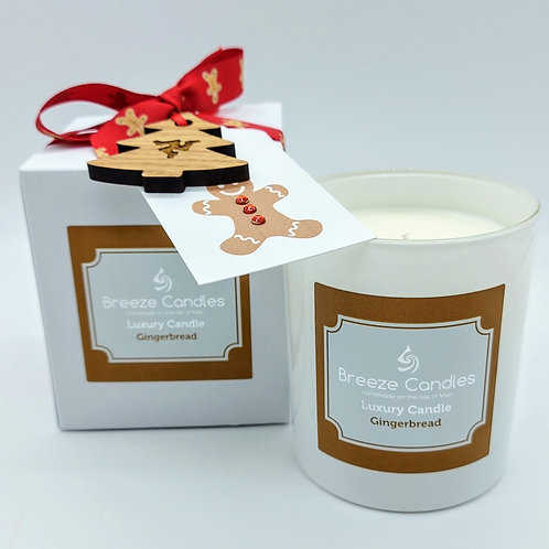 Christmas 9cl Boxed Candle Jar - Gingerbread