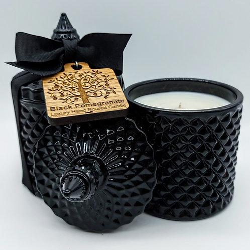 Geo Candle Jar - Black Pomegranate