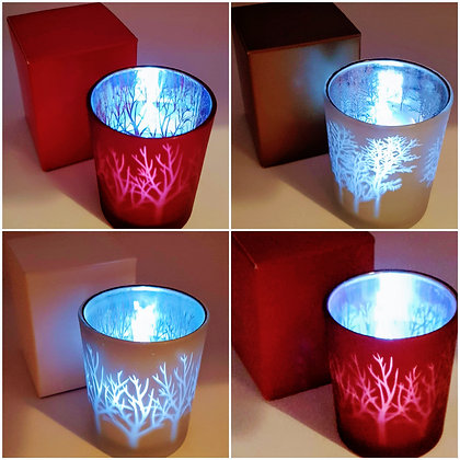 Tree Mirrored Tealight Holder 7cm