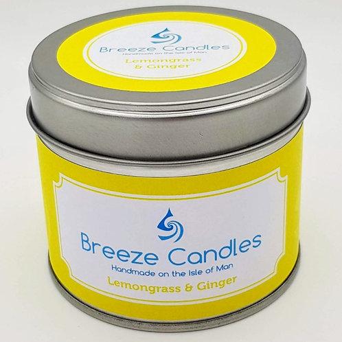 20cl Candle Tin - Lemongrass & Ginger