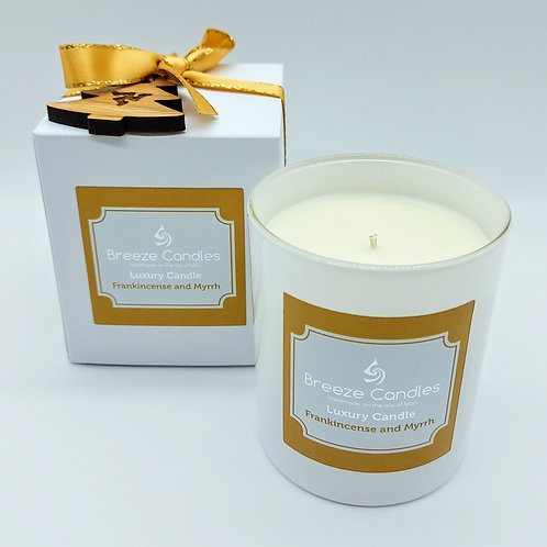 Christmas 9cl Boxed Candle Jar - Frankincense & Myrrh