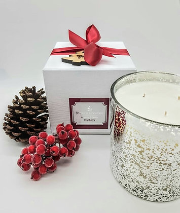 Cranberry Grand 3 Wick luxury Boxed Candle Jar