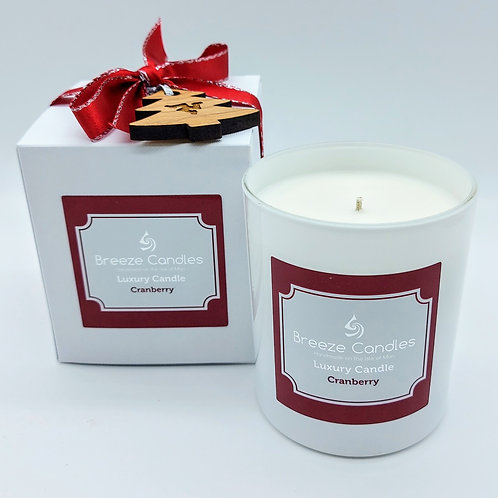 Christmas 9cl Boxed Candle Jar - Cranberry