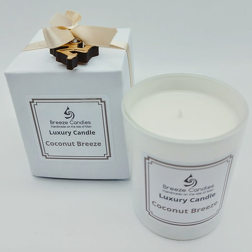 9cl Boxed Candle Jar - Coconut Breeze