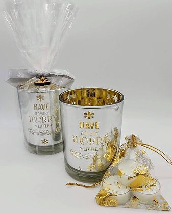 Merry Little Christmas Tealight Gift Set