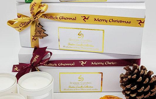 Nollick Ghennal Merry Christmas Candle Set