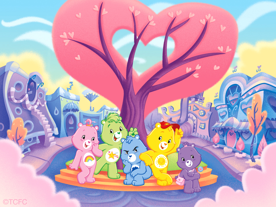 Care Bears Packaging Illustration