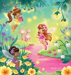 American Greetings fairies card