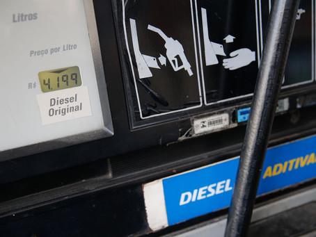 Importadora de combustível pede ao STF subsídio de R$ 0,30 no preço do diesel