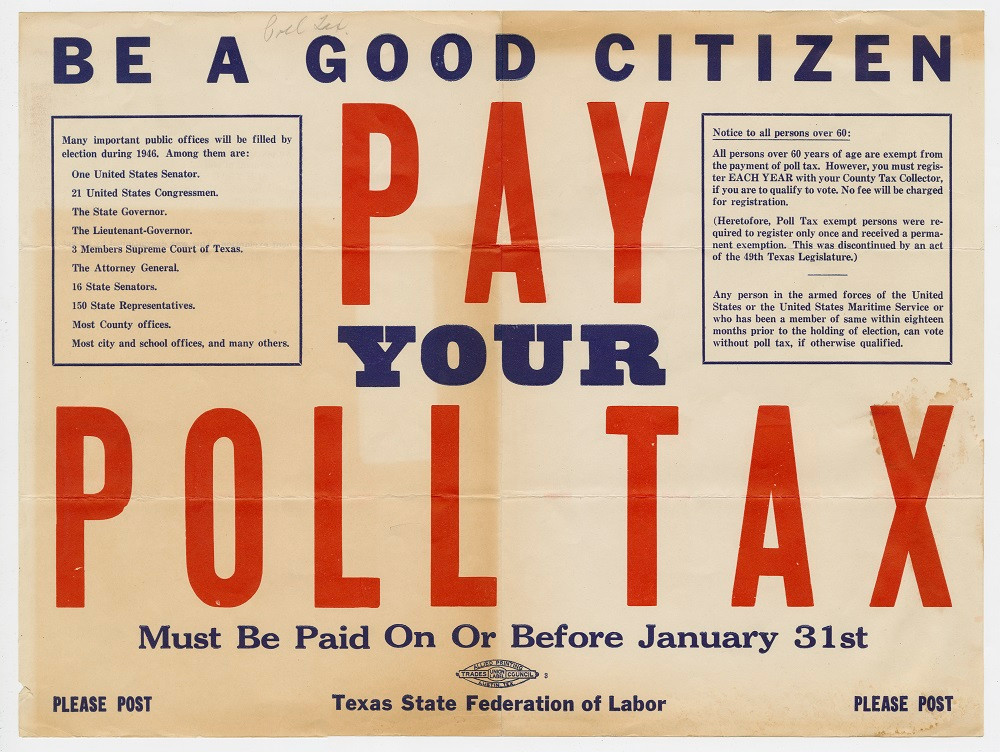 PAY YOUR POLL TAX