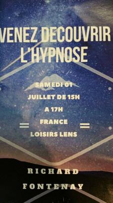 Decouverte de l'hypnose dans France Loisirs à Lens.
