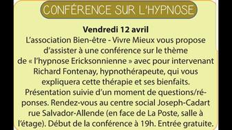 Conférence sur l'hypnose à Vermelles