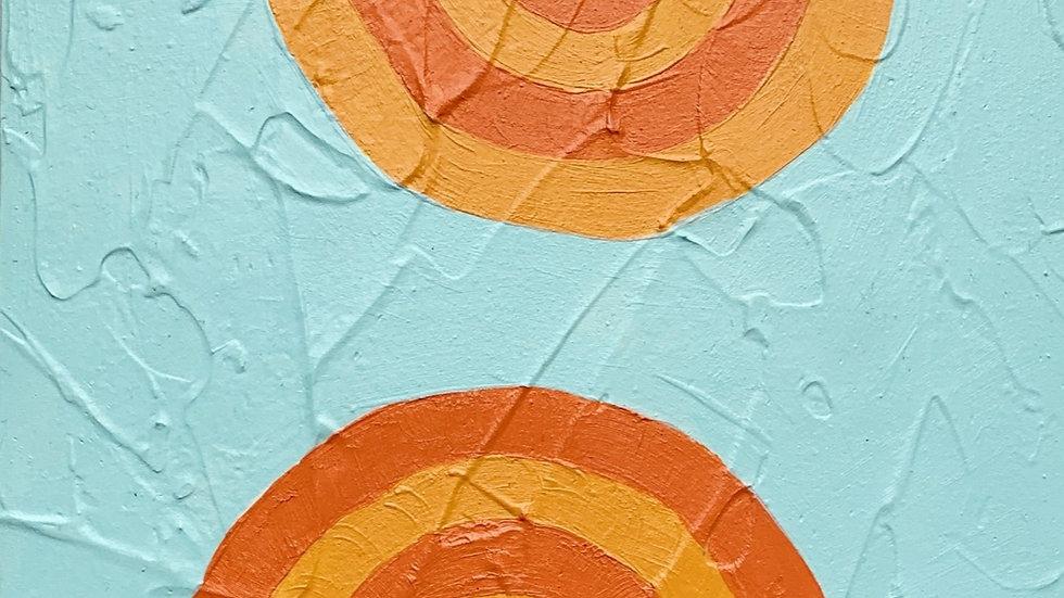 Dreamland in Orange &  Blue