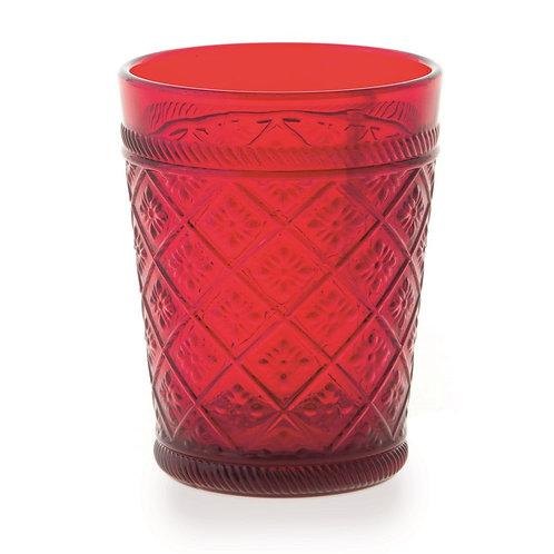 Gloria 6 darab pohár piros
