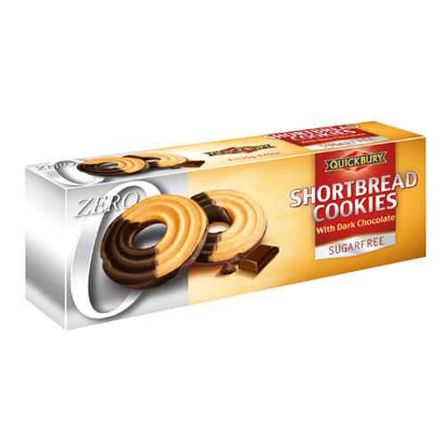 Quickbury Shortbread Cookies met Pure Chocolade (suikervrij)
