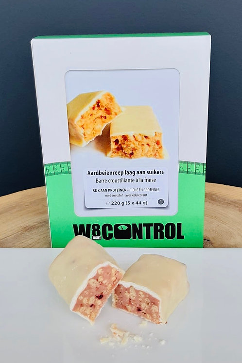 8+2 gratis: White Strawberry Bar Low Carb (per stuk)