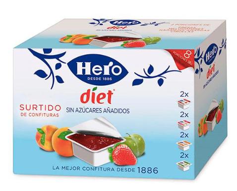 Hero Diet Confituur Mini 8 stuks x 20gr